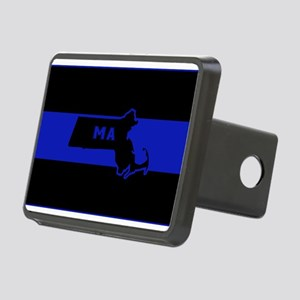 Thin Blue Line - Massachus Rectangular Hitch Cover