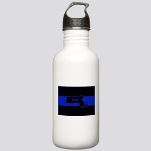 Thin Blue Line - Massa Stainless Water Bottle 1.0L