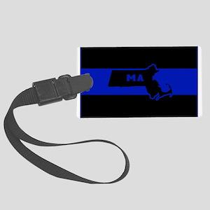 Thin Blue Line - Massachusetts Large Luggage Tag
