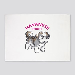 Havanese Mom 5'x7'Area Rug
