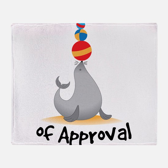 Seal Of Approval Throw Blanket