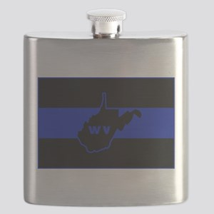 Thin Blue Line - West Virginia Flask