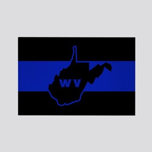 Thin Blue Line - West Virginia Magnets