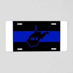Thin Blue Line - West Virgi Aluminum License Plate