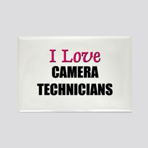 I Love CAMERA TECHNICIANS Rectangle Magnet
