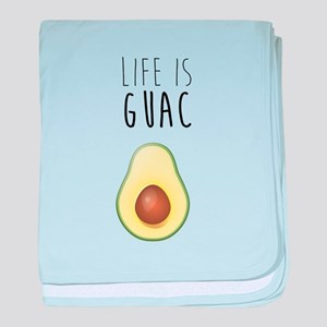 Life is Guac baby blanket