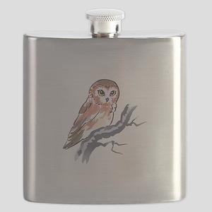 SAW WHET OWL Flask