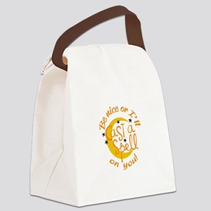 BE NICE OR ELSE Canvas Lunch Bag