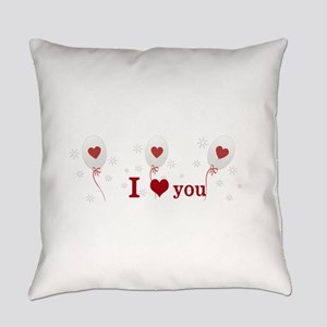 Red Balloon Celebration Everyday Pillow