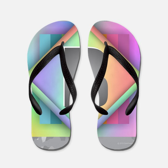 Rainbow Splash B Flip Flops