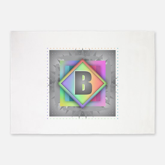 Rainbow Splash B 5'x7'Area Rug