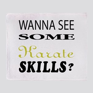 Wanna See Some Karate Skills ? Throw Blanket