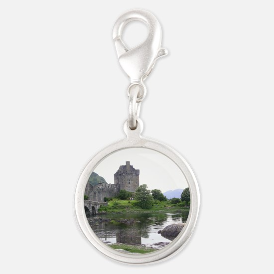 SCOTLAND EILEAN DONAN Silver Round Charm