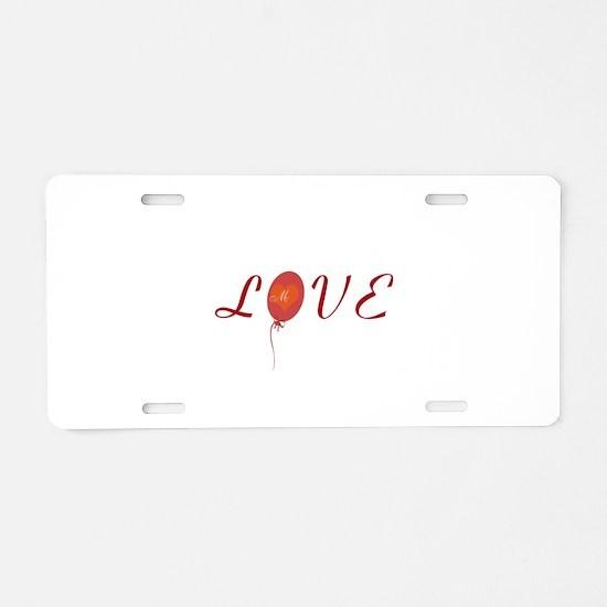 Cute Love Aluminum License Plate