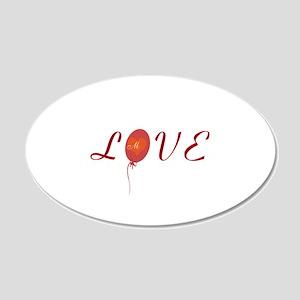 Cute Love 20x12 Oval Wall Decal