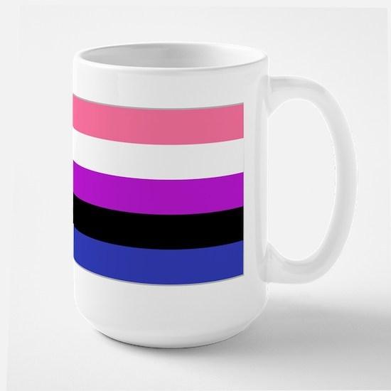 Genderfluid Pride Flag Large Mug