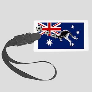 Australian Football Flag Large Luggage Tag