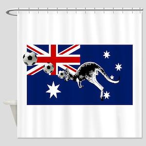 Australian Football Flag Shower Curtain