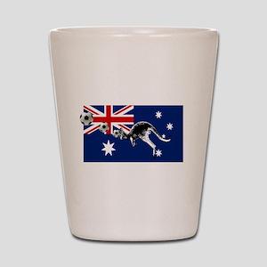 Australian Football Flag Shot Glass