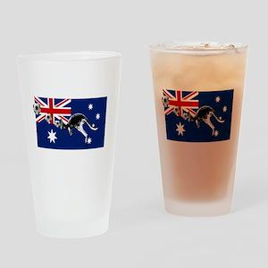 Australian Football Flag Drinking Glass