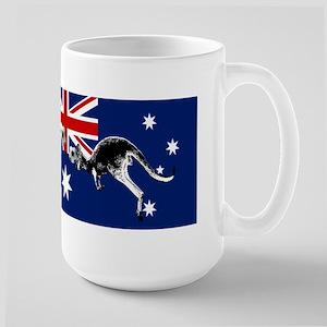 Australian Football Flag Large Mug
