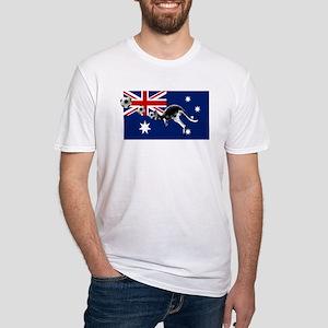 Australian Football Flag Fitted T-Shirt