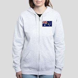 Australian Football Flag Women's Zip Hoodie