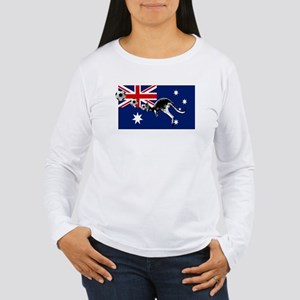 Australian Football Flag Women's Long Sleeve T-Shi