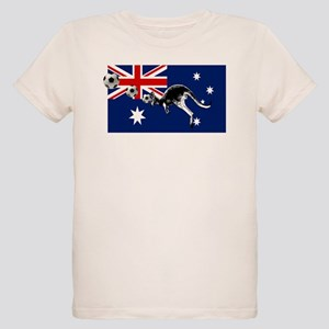 Australian Football Flag Organic Kids T-Shirt