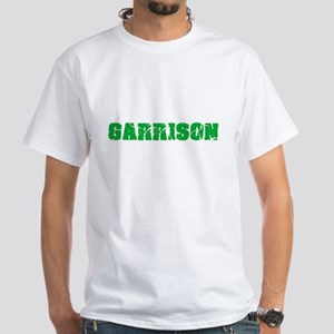 Garrison Name Weathered Green Design T-Shirt