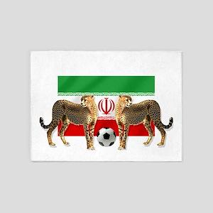 Iran Cheetahs 5'x7'area Rug