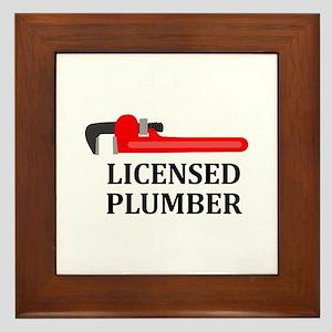 Licensed Plumber Framed Tile