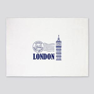 TRAVEL LONDON BIG BEN 5'x7'Area Rug