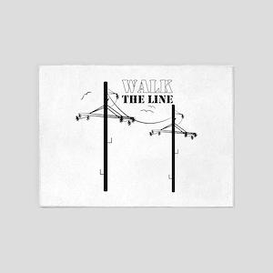 Walk The Line 5'x7'Area Rug