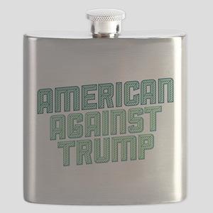 American Against Trump Flask