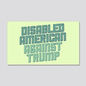 Disabled American Against Trump Wall Decal