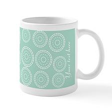 Cute Mint Pattern Monogram Mug