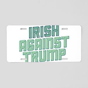 Irish Against Trump Aluminum License Plate