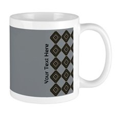 Stylish Custom Grey Black Patterned Mugs