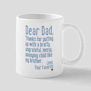 Dear Dad, Thanks For (brother Version) Mug Mugs