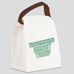 Michigander Against Trump Canvas Lunch Bag