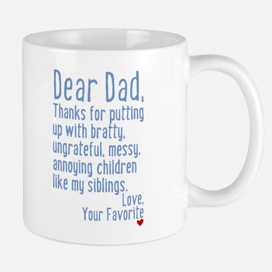 Dear Dad, Thanks For (siblings Version) Mug Mugs