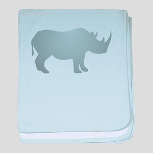 Rhinoceros Rhino baby blanket