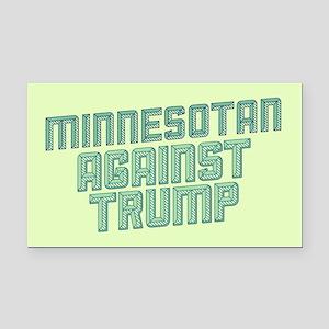 Minnesotan Against Trump Rectangle Car Magnet