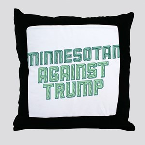 Minnesotan Against Trump Throw Pillow