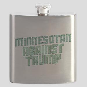 Minnesotan Against Trump Flask