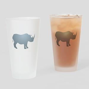 Rhinoceros Rhino Drinking Glass