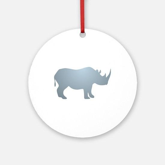 Rhinoceros Rhino Round Ornament