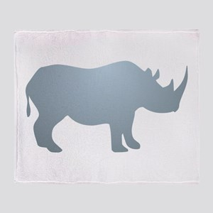 Rhinoceros Rhino Throw Blanket
