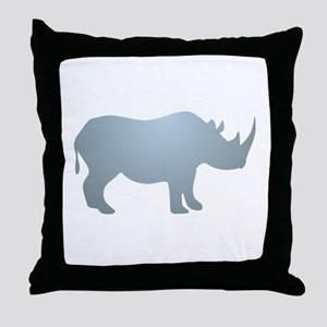Rhinoceros Rhino Throw Pillow